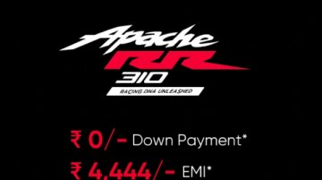 TVS Apache RR310 available at zero down payment and low EMI – Report