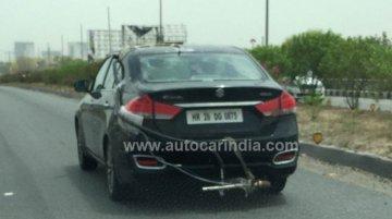 BS-VI इंजन वाली Maruti Suzuki Ciaz टेस्टिंग के दौरान कैमरे में कैद