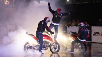 TVS Apache makes it to Asia Book of Records for its non-stop stunt marathon