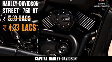 Harley Davidson Street 750 available at INR 1 lakh dealer-level discount