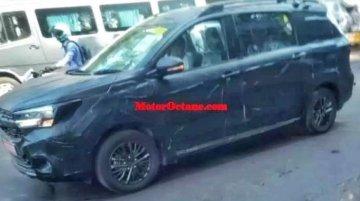 Maruti Suzuki Ertiga Cross spied for the first time
