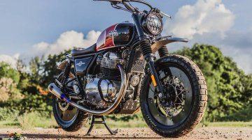 Modified Royal Enfield Interceptor INT 650 is ready for an adventure