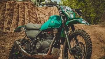 Modified Royal Enfield Himalayan wears an enduro outfit