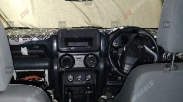 2020 Mahindra Thar interior exposed in the clearest spy shots till date