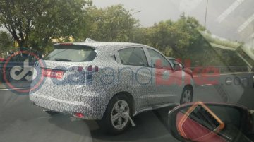 Honda HR-V spied on test in India again