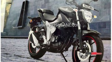 New Suzuki Gixxer (facelift) fully revealed in leaked brochure image