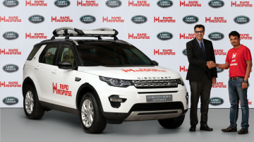 Modified Land Rover Discovery Sport donated to Rapid Response in India