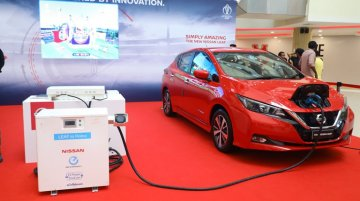 Nissan Leaf powers display screening ICC World Cup 2019 match in India [Video]