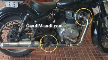 Next-gen Royal Enfield Classic with new hardware spied up close