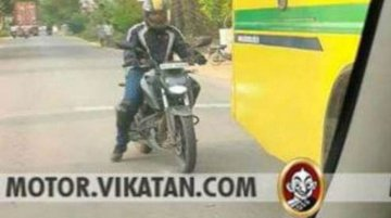 New TVS Apache RTR 200 4V spotted with LED headlamp