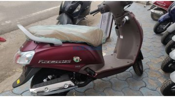 Suzuki Access 125 Special Edition spotted in Matte Red/Burgundy colour