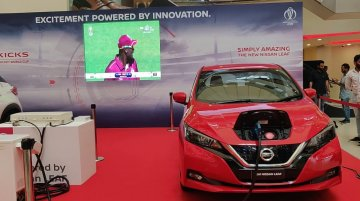 Nissan Leaf powers ICC World Cup 2019 match screening at Express Avenue mall in Chennai