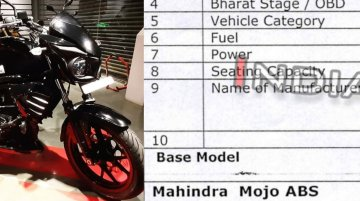Exclusive: Mahindra Mojo 300 ABS specifications revealed
