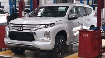 India-bound 2019 Mitsubishi Pajero Sport (facelift) spied inside-out
