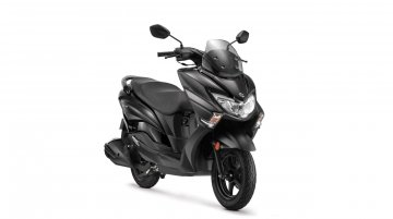 Suzuki Burgman Street in Matte Black colour launched in India