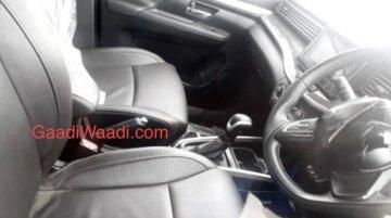 पहली बार स्पाई कैमरे में कैद हुई Maruti Suzuki Ertiga Cross की इंटीरियर की तस्वीर
