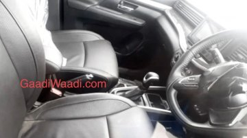 Maruti XL6 (Maruti Ertiga Cross) interior spied for the first time
