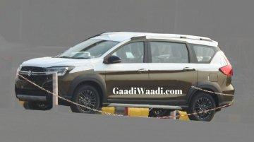 Maruti Suzuki XL6 spied in new Dignity Brown colour