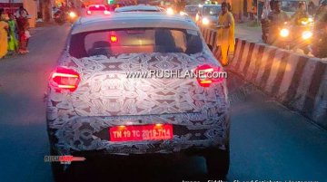2020 Renault Kwid (facelift) shows its C-shaped LED tail lights