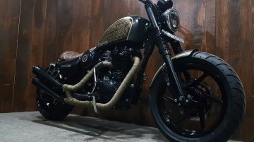 Modified Royal Enfield called Dharma is a definite head-turner