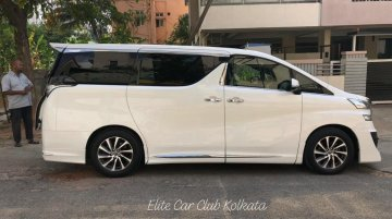 Toyota Vellfire being displayed to prospects in India before launch