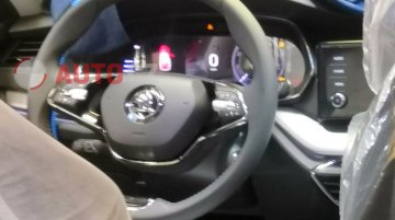 India-bound 2020 Skoda Octavia interior spied, features two-spoke steering wheel