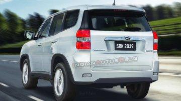 Next-gen 2020 Mahindra Scorpio rear-quarter - IAB Rendering