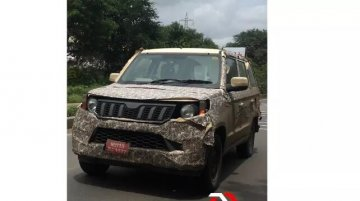 2020 Mahindra TUV300 Plus (facelift) spied on test again