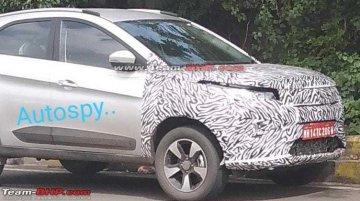 2020 Tata Nexon (facelift) in production body spied again