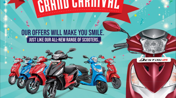 Hero MotoCorp scooter range available with special offers and discounts