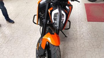 KTM 790 Duke spotted at a dealership in India, launching this month