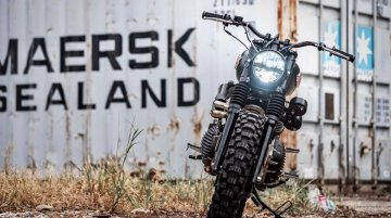 Modified Royal Enfield Interceptor 650 gets a stealthy and a rugged look