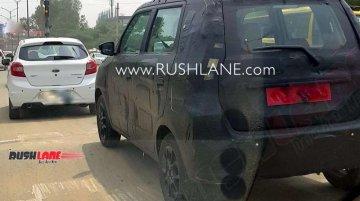 Maruti WagonR with Maruti Ignis' wheels spied on test