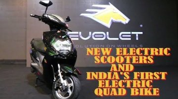 Evolet Launches Three New Electric Scooters And India's First Electric Quad Bike