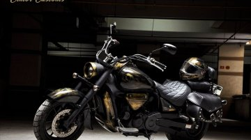Hyosung Aquila 650 gets a dark theme and a matching helmet from Eimor Customs