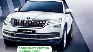 Skoda Kodiaq Corporate Edition launched at INR 33 lakh, deliveries commence