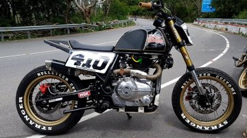 Modified Royal Enfield Himalayan gets Flat Tracker styling from Bulleteer Customs