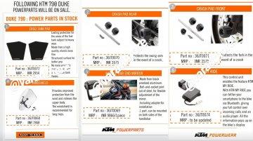 KTM 790 Duke Power Parts for India revealed
