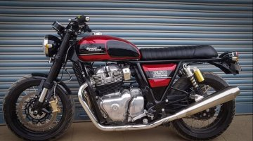 Modified Royal Enfield Interceptor INT 650 flaunts new paint job and inverted front forks [VIDEO]