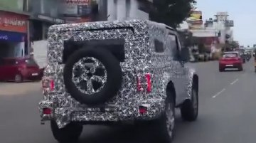 2020 Mahindra Thar with LED tail lights & alloy wheels spied [Video]