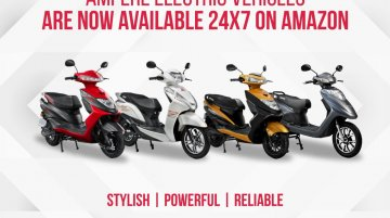 Ampere electric scooters now available on Amazon India