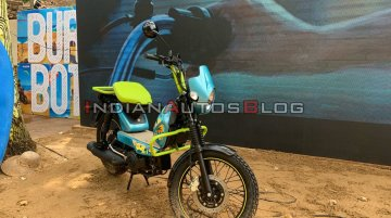 Modified TVS XL100 moped catches attention at MotoSoul 2019 in Goa
