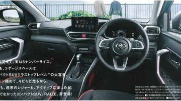 Toyota Raize interior leaked ahead of debut next month