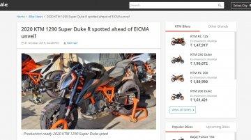 Production-spec 2020 KTM 1290 Super Duke R spied ahead of EICMA debut