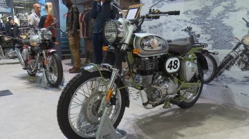 Royal Enfield stand at EICMA 2019 | Flat Track RE and other custom models