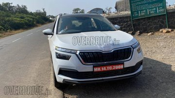 Skoda Kamiq spied on test in India once again