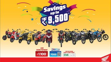 Honda 2Wheeler India products available with discounts and low down payment