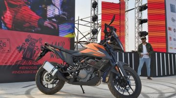 KTM 390 Adventure unveiled at India Bike Week 2019