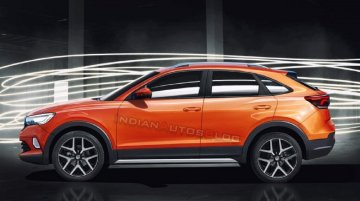 MQB A0-बेस्ड VW Nivus SUV- कूप - IAB रेंडरिंग