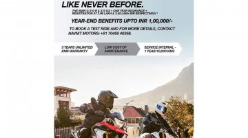 BMW G 310 R & BMW G 310 GS still available at discounted prices, get additional benefits